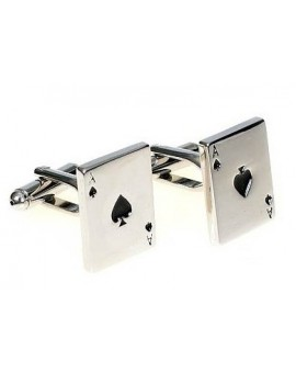 Ace of Spades Poker Card Cufflinks