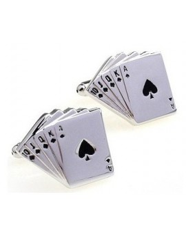 Royal Flush Poker Hand Cufflinks
