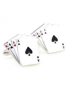 Poker Aces Cards Cufflinks