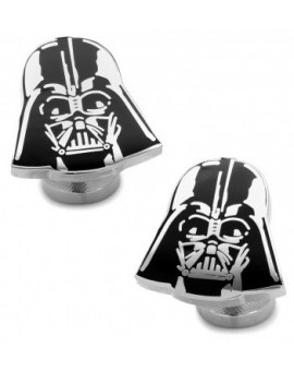 Recessed Matte Darth Vader Head Star Wars Cufflinks