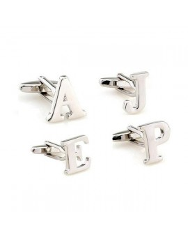 Combination of Big Initials Cufflinks