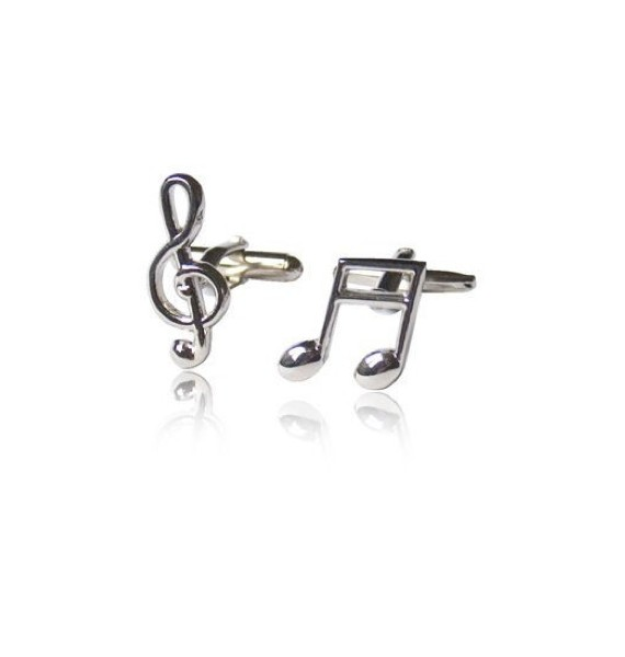 Music Note and Treble Clef Cufflinks
