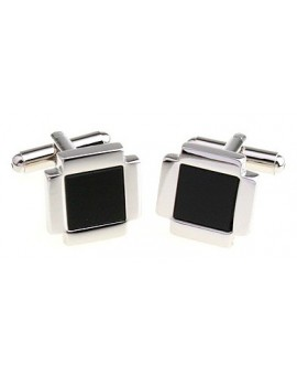 Black and Silver XVIII Cufflinks