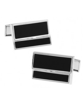 Black and Silver XXI Cufflinks
