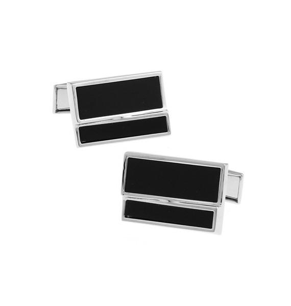 Black and Silver XXI Cufflinks