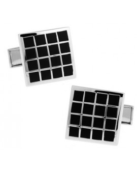 Black and Silver XXIV Cufflinks