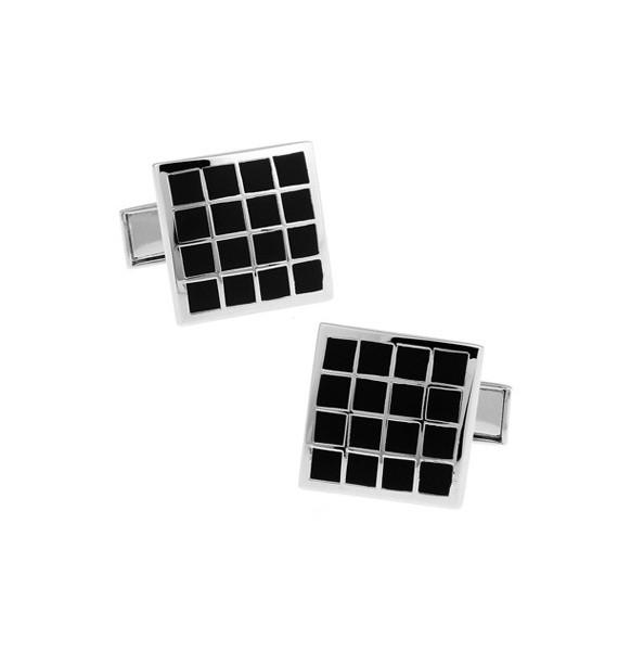 Black and Silver XXIV Cufflinks
