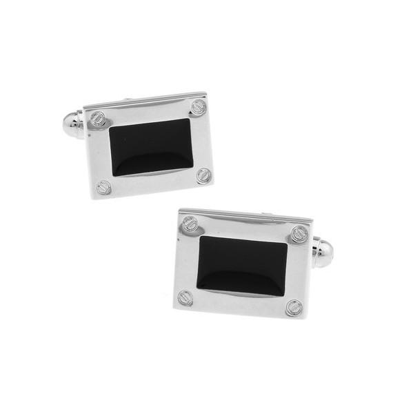 Black and Silver XXVIII Cufflinks