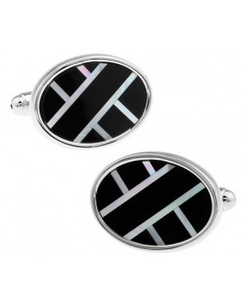 Black and Silver XXIX Cufflinks