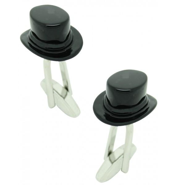 Black Top Hat Cufflinks