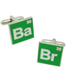 Breaking Bad Cufflinks behind