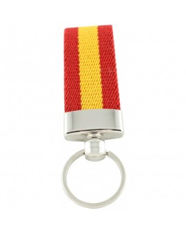 Spanish Flag Canvas Keychain