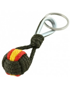 Spanish Flag Green Rope Keychain