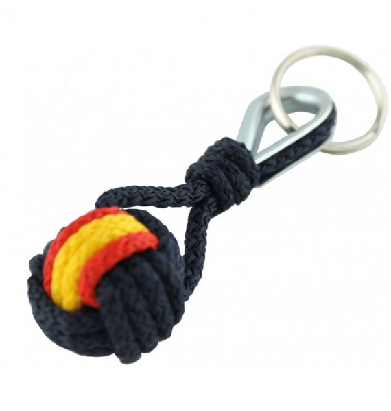Spanish Flag Navy Blue Rope Keychain
