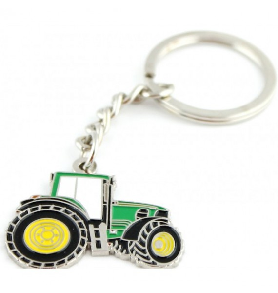 Green Tractor Keychain