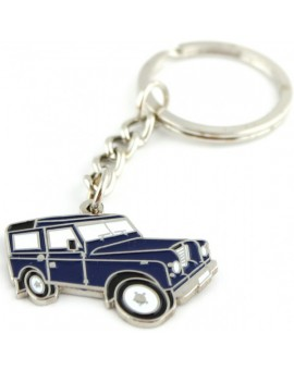 Blue Jeep Keychain