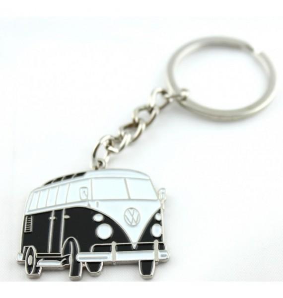 Black Volkswagen Van Keychain