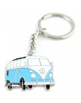 Blue Volkswagen Van Keychain