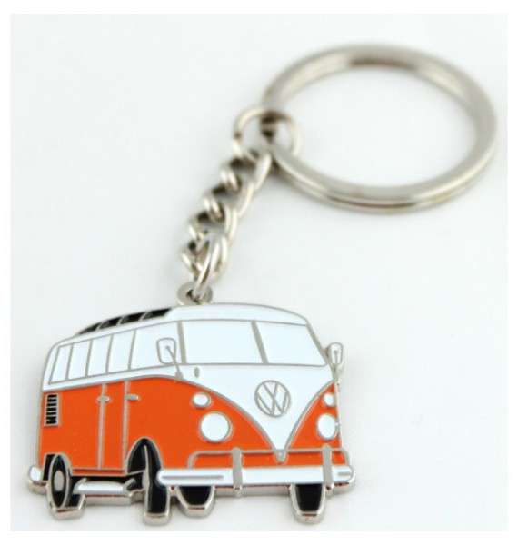 Orange Volkswagen Van Keychain