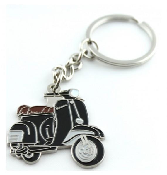Black Vespa Keychain