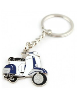 Blue and White Vespa Keychain
