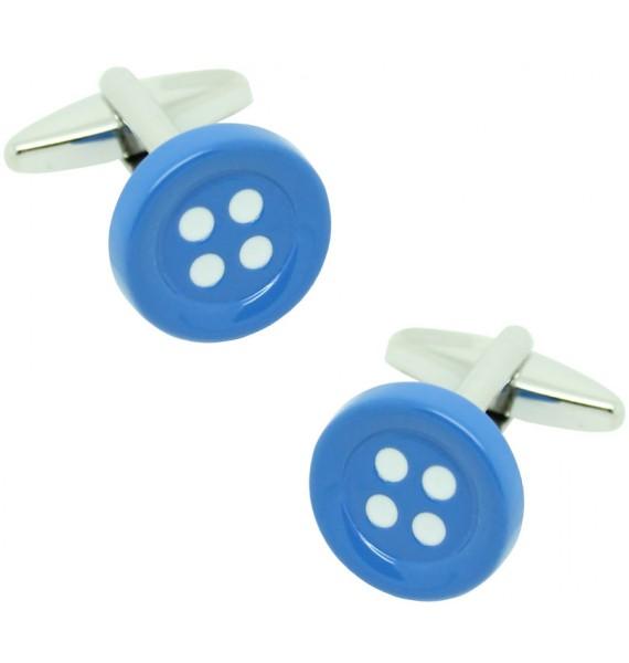 Blue Button Cufflinks