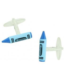 Gemelos Crayon Azul