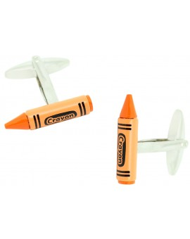 Orange Crayon Cufflinks