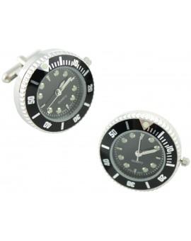 Gemelos para camisa Reloj Sport Negro