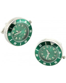 Green Sports Watch Cufflinks