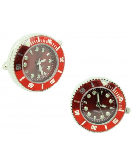Red Sports Watch Cufflinks