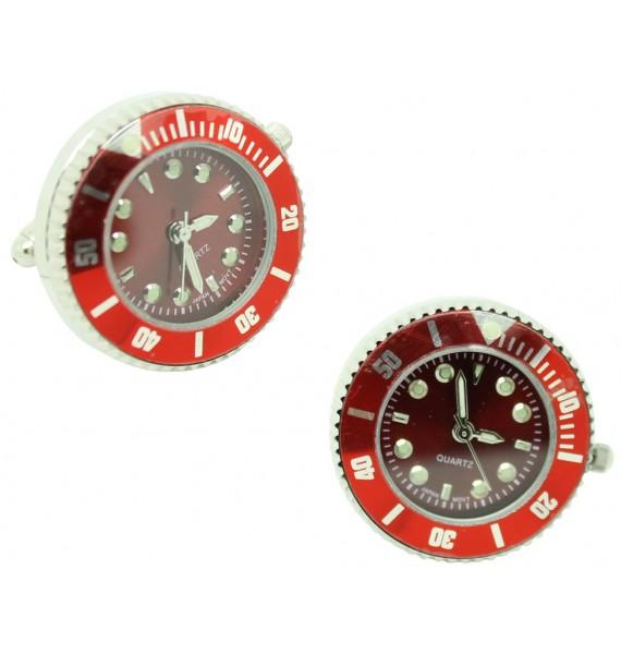 Gemelos para camisa Reloj Sport Rojo