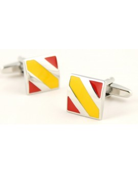 Spain Flag Square Cufflinks