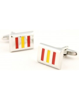 Spain Flag Rectangle Cufflinks