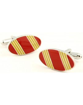 Spain Flag Oval Cufflinks