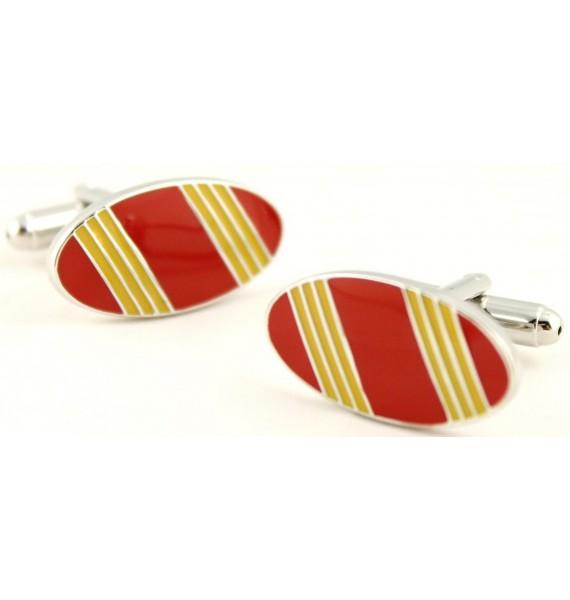 Spain Flag Oval Cufflinks