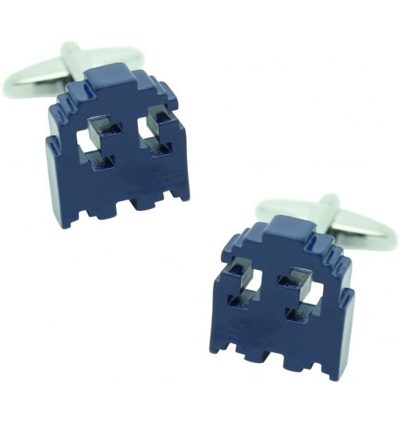 3D Blue Pac-Man Cufflinks