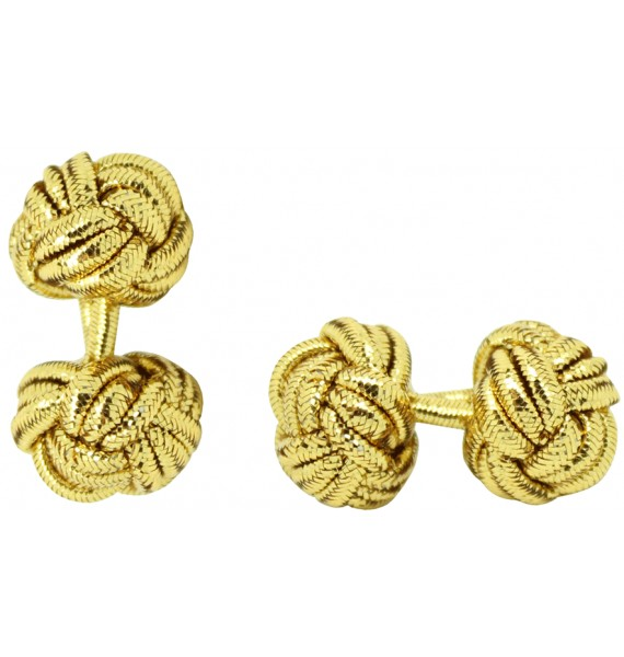 Gold Silk Knot Cufflinks