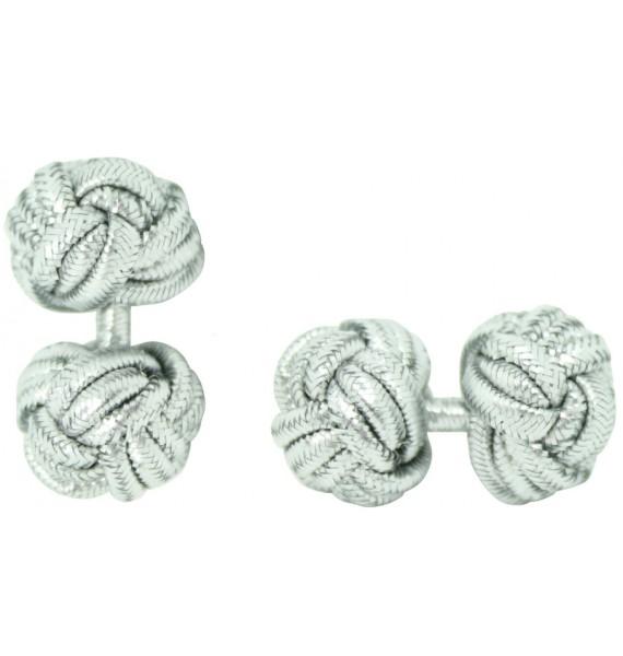 Silver Silk Knot Cufflinks