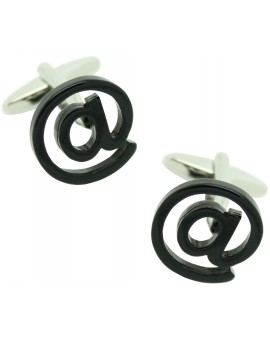 Black At Sign Cufflinks
