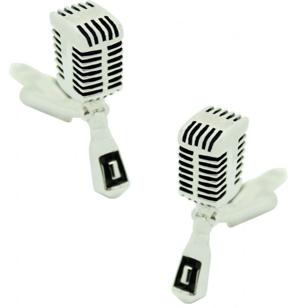 Radio Microphone Cufflinks