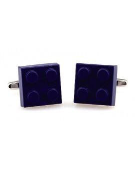 Blue LEGO Brick Cufflinks