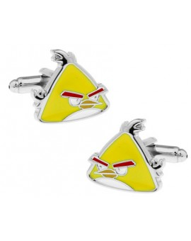 Yellow Angry Birds Cufflinks