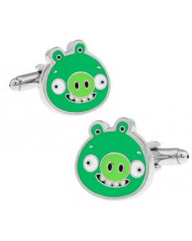 Piglet Angry Birds Cufflinks