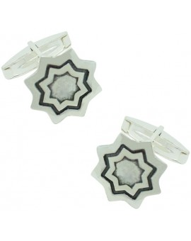 Sterling Silver Star Cufflinks