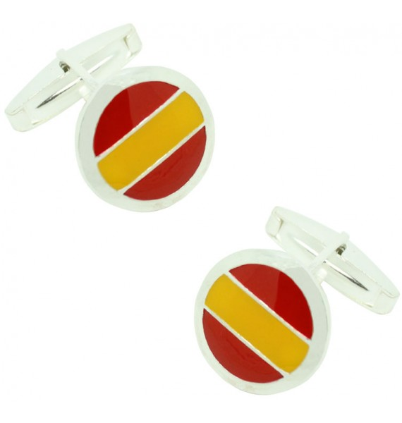 Sterling Silver Spain Rounded Cufflinks