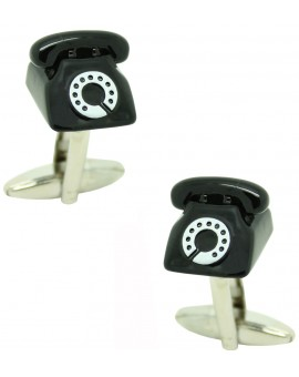 Black Telephone Cufflinks