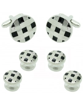 Black Striped Round Smoking Set