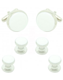 White Round Smoking Set