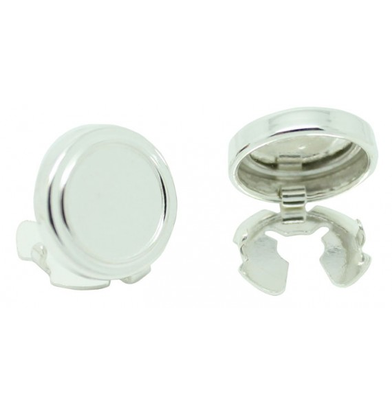 Sterling Silver Round Button Covers